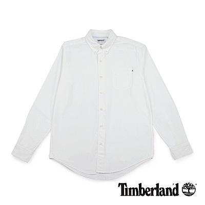 Timberland 男款白色長袖Gale River 牛津襯衫|A1NJX