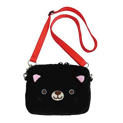 動物樂園側背收納袋。小黑貓 UNIQUE