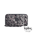 Kipling 英式粉漆塗鴉多層收納拉鍊長夾-IMALI