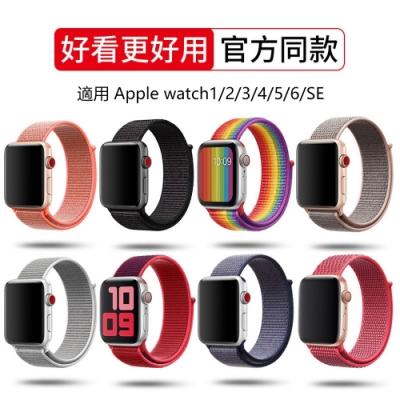 hald 蘋果 Apple Watch Series 7/6/5/4/3/2/SE 尼龍編織 回環式 運動型替換錶帶