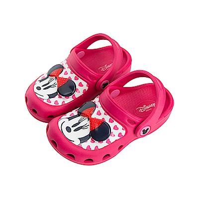 迪士尼 米妮 可愛復古造型 電燈涼鞋-桃