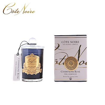 法國 CoteNoire 蔻特蘭 粉紅香檳香氛蠟燭75g