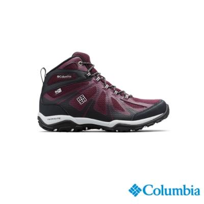 Columbia 哥倫比亞 女款-Outdry防水高筒健走鞋-暗紅