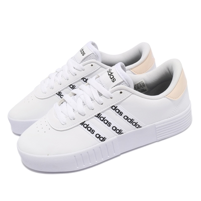 adidas 休閒鞋 Court Bold 運動 女鞋 愛迪達 基本款 簡約 舒適 穿搭 白 黑 GZ8439
