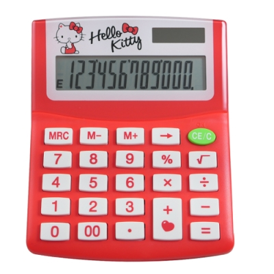 HELLO KITTY 夢幻紅12位元計算機 KT-300