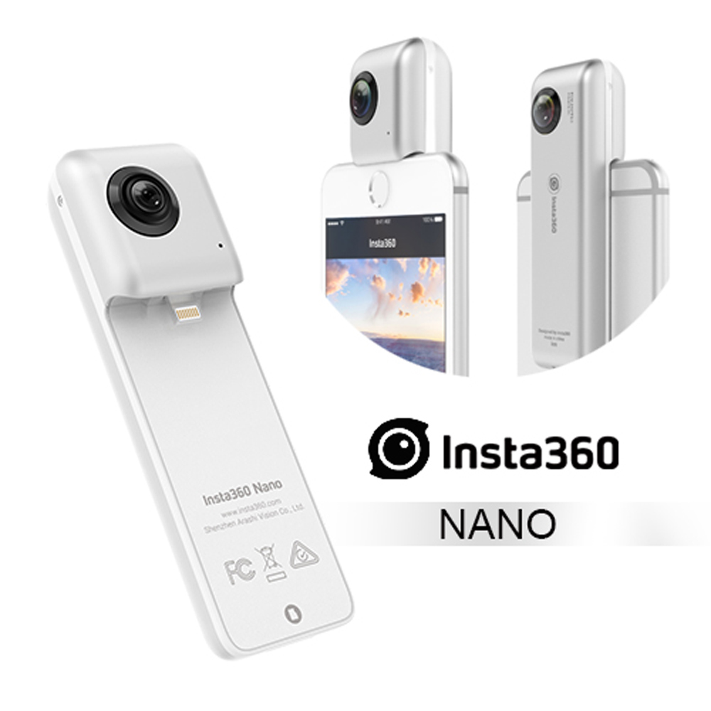 Insta360 Nano 全景高畫質攝影機 (公司貨) 贈SD64G/160MBs 卡