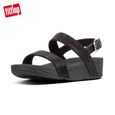 FitFlop LOTTIE SHIMMERCRYSTAL BACK-STRAP SANDALS 經典款式後帶涼鞋-女(黑色)