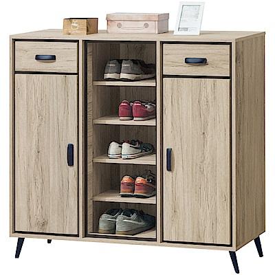 綠活居 美利斯時尚4尺二門二抽鞋櫃/收納櫃-120.7x40x112.5cm免組