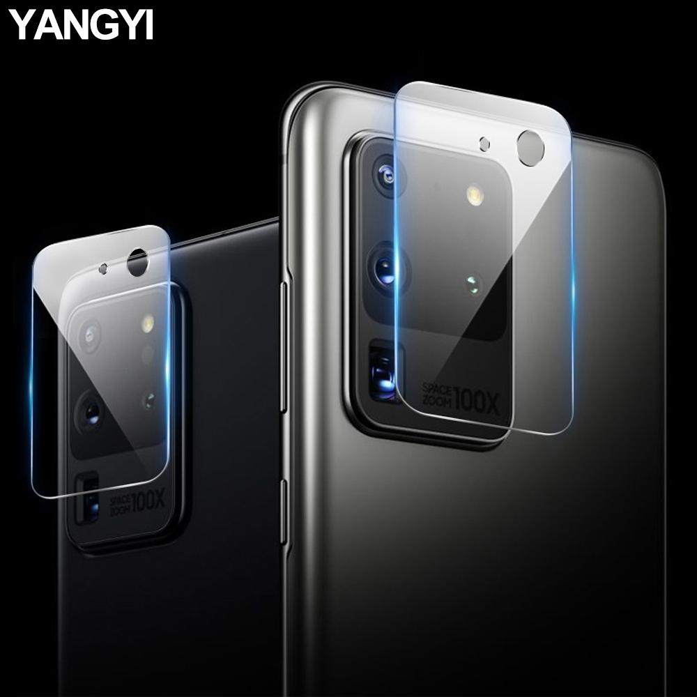 揚邑 Samsung Galaxy S20 Ultra 防爆防刮弧邊 9H鏡頭鋼化玻璃膜保護貼