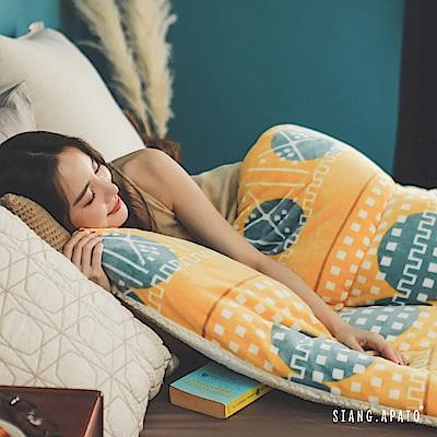 翔仔居家 台灣製 新一代防靜電極緻保暖法蘭絨x羊羔絨 特厚暖暖被【列蒂西雅】