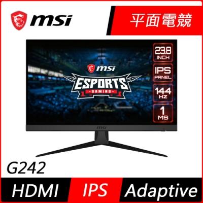 『4/16前送5%超贈點』MSI微星Optix G242 24型 IPS無邊框電競螢幕 144Hz 極速1ms 支援HDMI Adaptive Sync