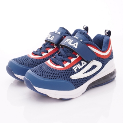 FILA頂級童鞋 高機能支撐氣墊款 EI09T-321藍紅(中大童段)