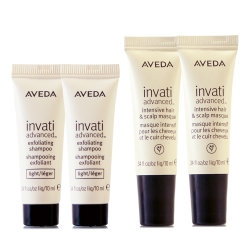 AVEDA 蘊活菁華髮根強韌膜10ml*2+蘊活菁華更新洗髮精10ml*2(正統公司貨)
