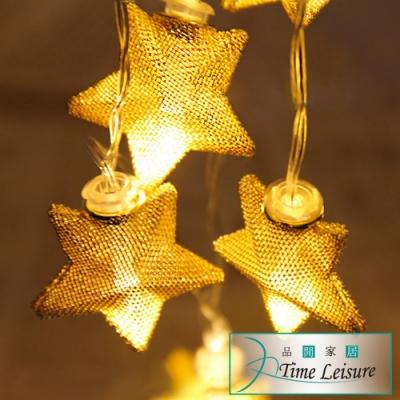 Time Leisure 鐵藝LED派對佈置/耶誕聖誕燈飾燈串(星星/暖白/2.5M)