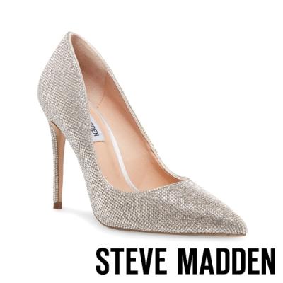 STEVE MADDEN-DAISIE 素面尖頭高跟鞋-銀色