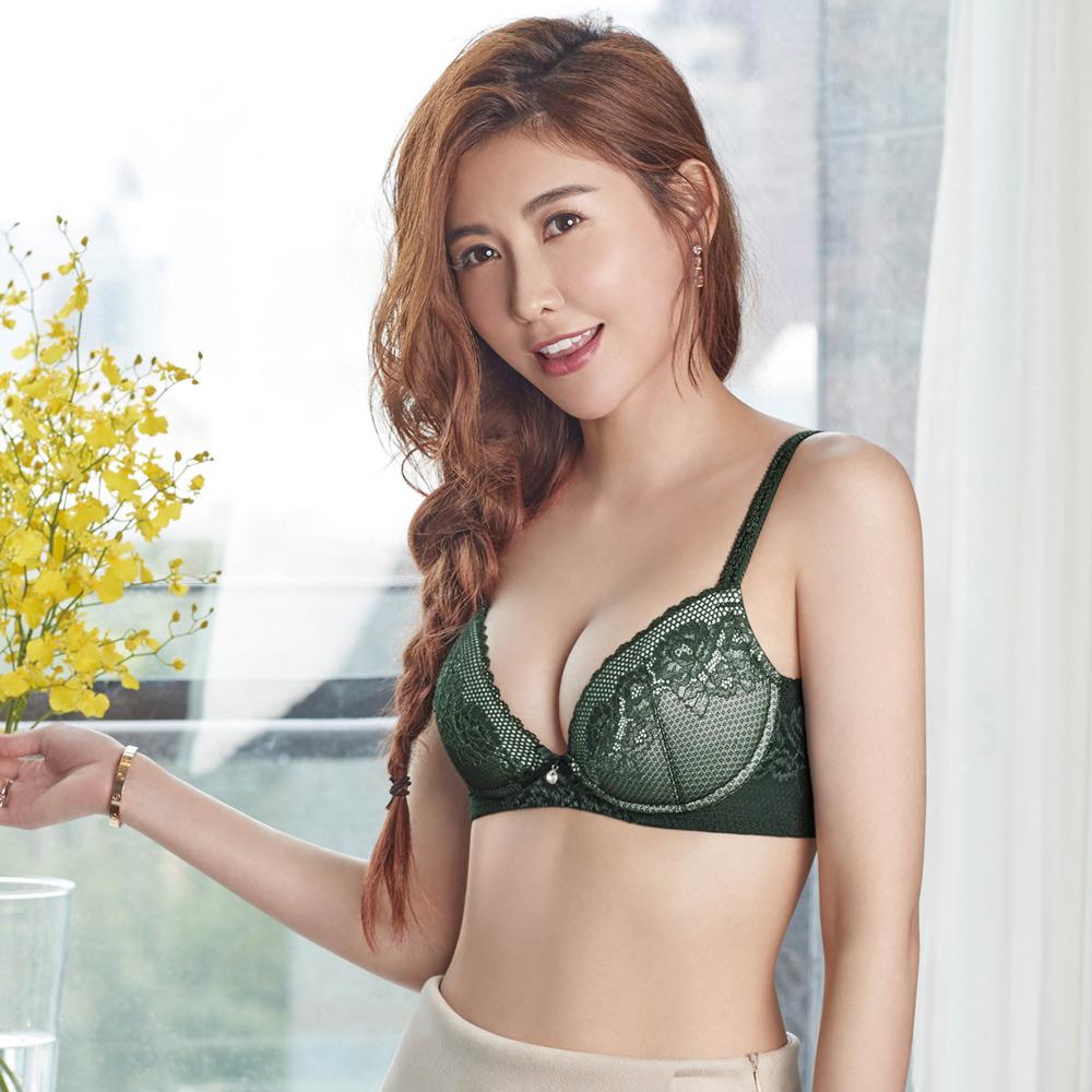 瑪登瑪朵 無鋼圈內衣  B-C罩杯(深邃綠)