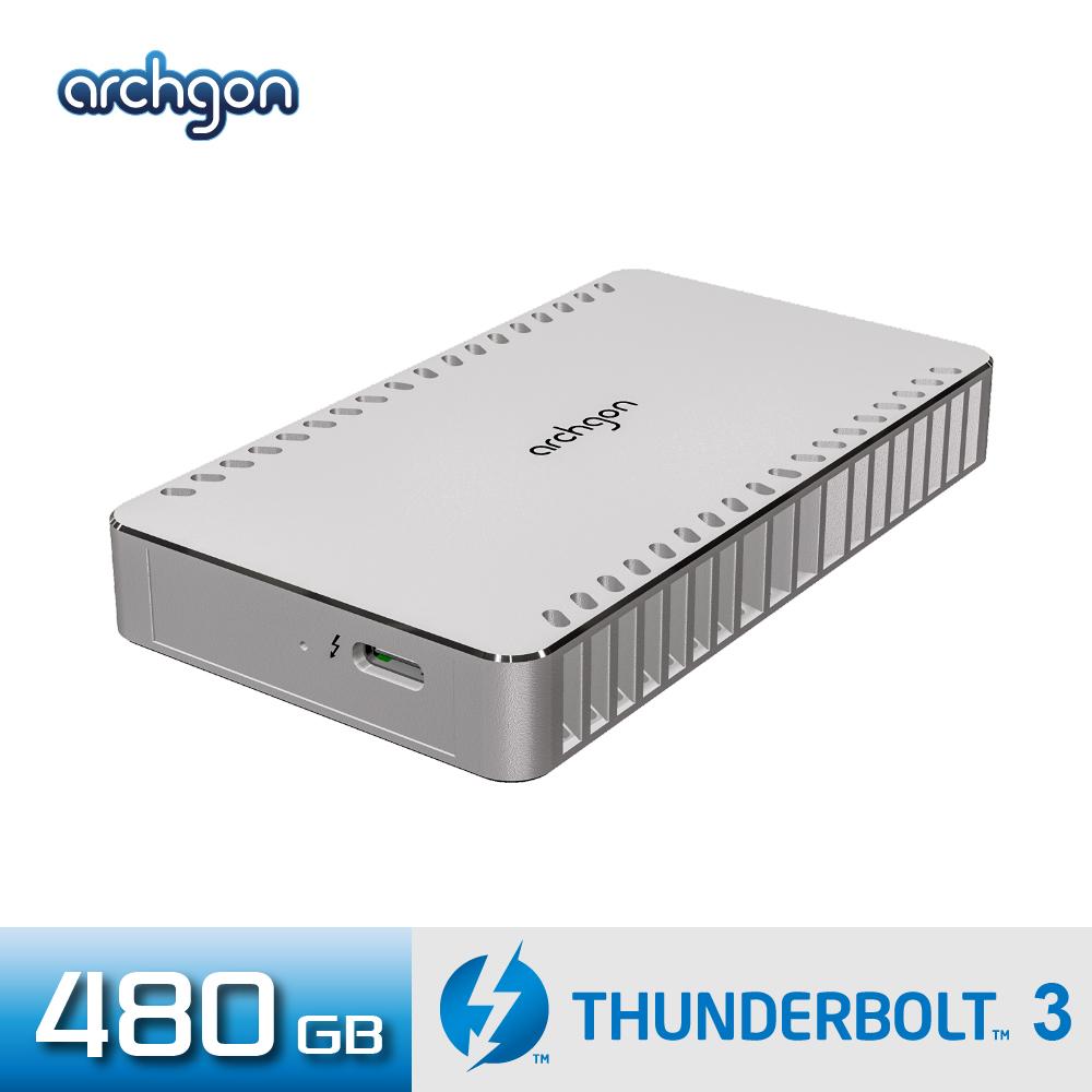 Archgon X70 外接式固態硬碟 Thunderbolt 3-480GB -鑽石銀