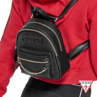 GUESS-女包-經典LOGO肩背後背包-黑