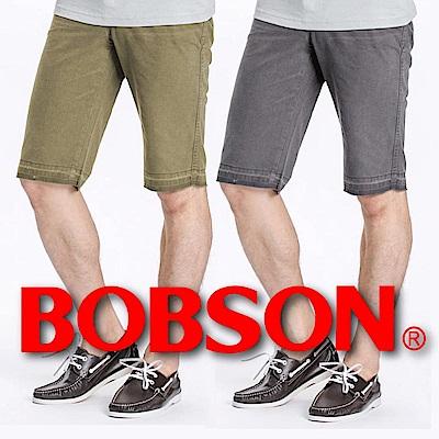 [時時樂限定] BOBSON 男款休閒短褲(2款任選)