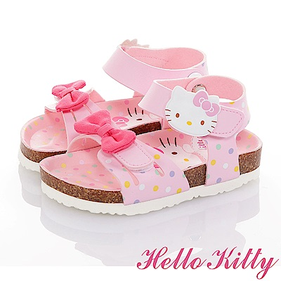 HelloKitty童鞋 輕量減壓吸震腳床型涼鞋-粉