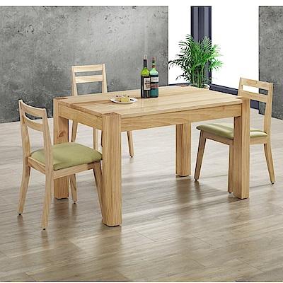 MUNA艾德里原木色餐桌椅組(1桌4椅)  130X80X78cm
