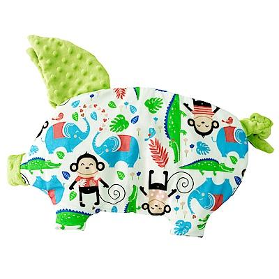 La Millou 豆豆小豬枕嬰兒枕-歡樂拉拉猴(香草綠薄荷)