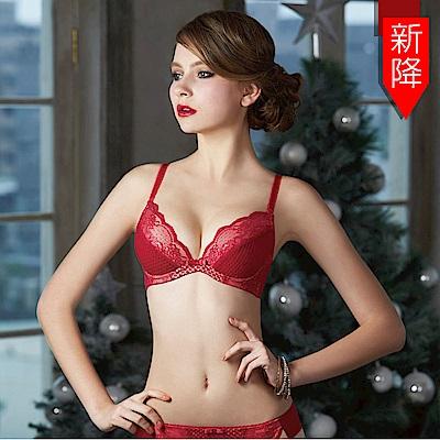 瑪登瑪朵 浪漫古典蕾絲內衣  B-E罩杯(晚宴紅)