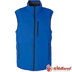Wildland荒野 W2708-77中藍 男防潑水防風保暖背心(大尺碼)