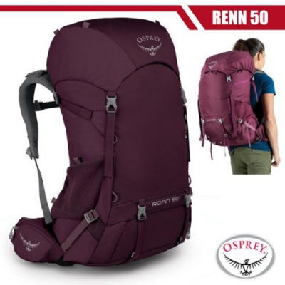 OSPREY 女新款 Renn 50 專業輕量透氣登山背包_極光紫 R