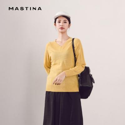 【MASTINA】百搭V領舒適-針織衫(三色)