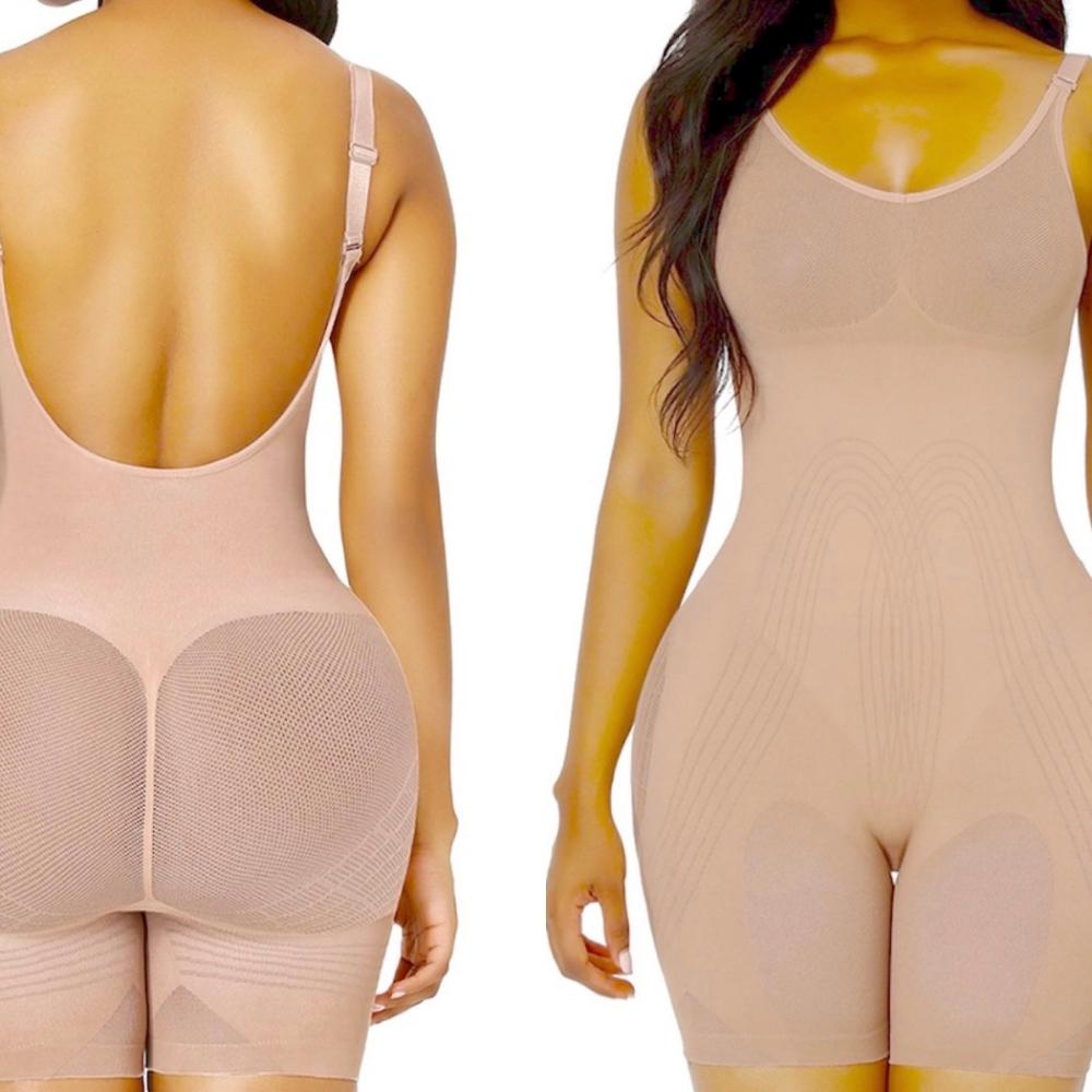 Olivia 3D Magic Low Back Power Bodysuit大露背強塑收腹剷肚翹臀豐胸(大露背)vs(交叉美背)塑身衣 (黑色現貨)