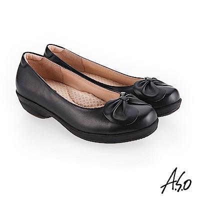 A.S.O 紓壓氣墊 簡約風格休閒鞋 黑