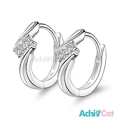 AchiCat 925純銀耳環 幸福流星 純銀易扣耳環