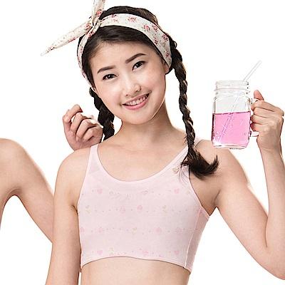 嬪婷-學生成長ACE ICE 系列AA 罩杯無鋼圈內衣(聖代粉)-學生內衣