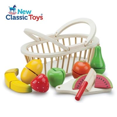 【荷蘭New Classic Toys】水果籃切切樂 - 10588