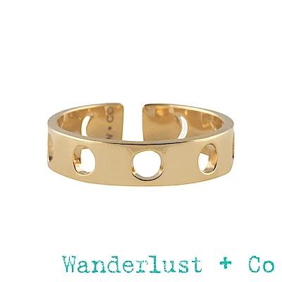 Wanderlust+Co月亮戒指 -金色