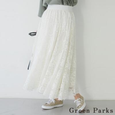Green Parks 浪漫花朵蕾絲長裙