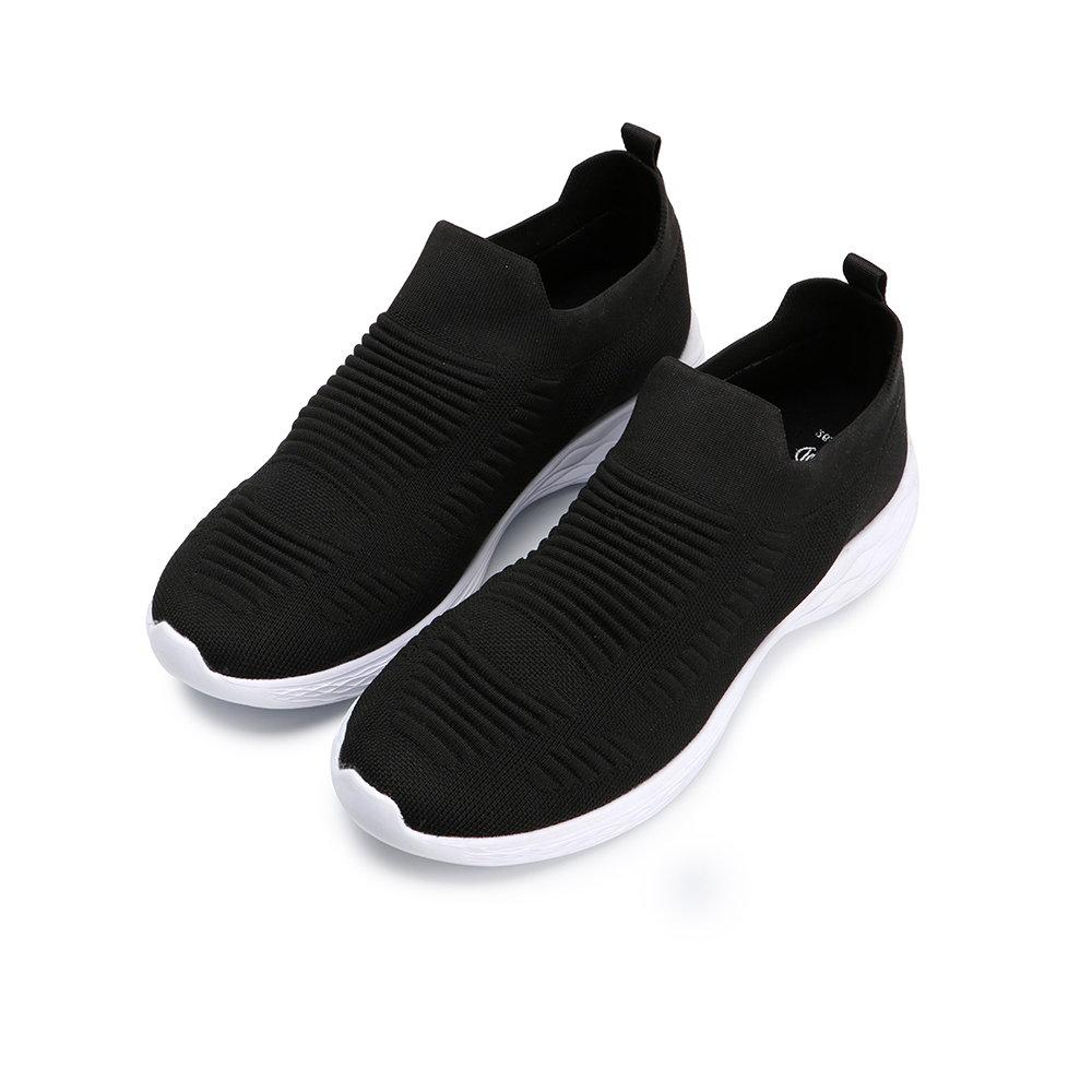 BuyGlasses 太空輕量襪套式慢跑鞋-全黑