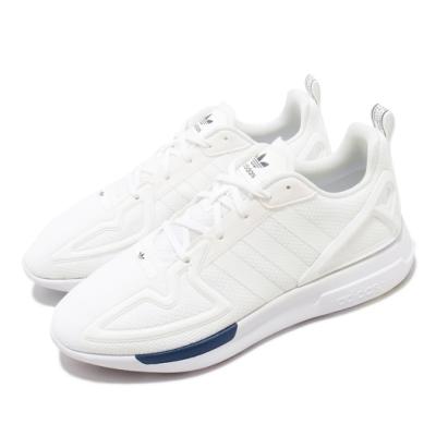 adidas 休閒鞋 ZX 2K Flux 低筒 男鞋 愛迪達 三葉草 透氣 球鞋穿搭 白 藍 FW0470