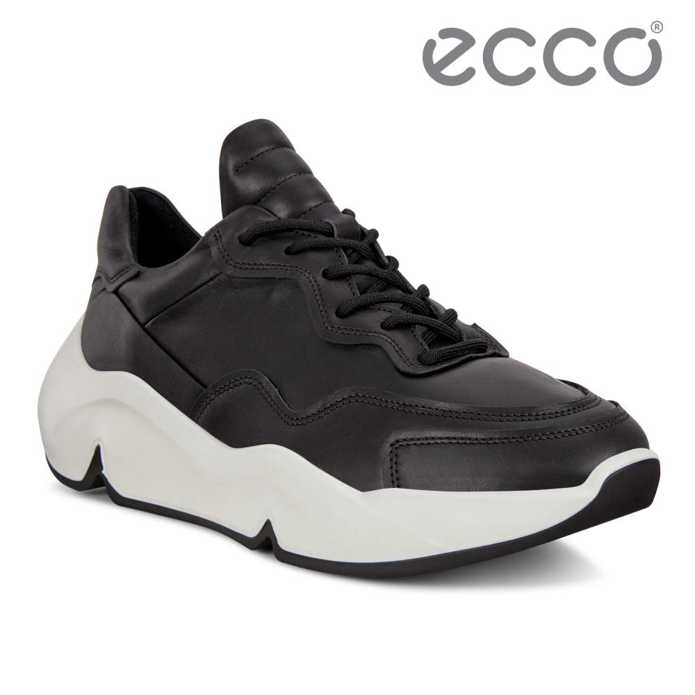 ECCO CHUNKY SNEAKER W 潮趣簡約輕量單色休閒運動鞋 女鞋-黑色