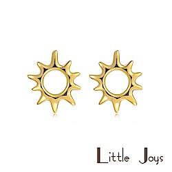 Little Joys 原創設計品牌 Sun Pure 小太陽耳釘 925銀鍍金