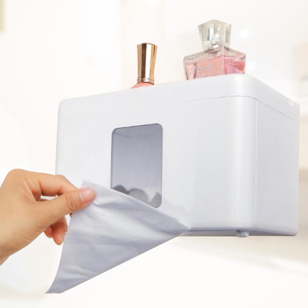 [Ezlife]無痕防水紙巾收納盒(贈防霉靜電貼)