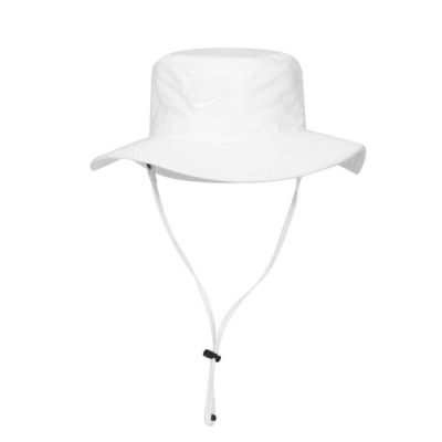 NIKE GOLF 漁夫帽-雙面 水桶帽 台灣製 DRI-FIT UV 遮陽 防曬 AJ5468-100 白