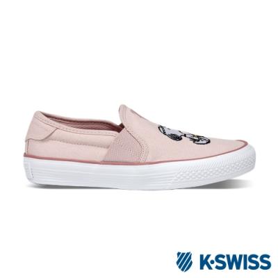 K-SWISS Court Vulc Slip-On史努比聯名懶人鞋-女-粉紅