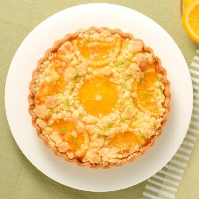 (滿4件)亞尼克派塔 橙香起司酥波蘿6吋