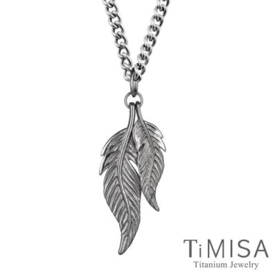 TiMISA  動感羽毛(雙羽款) 純鈦項鍊(SD)