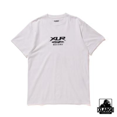 XLARGE S/S TEE XLR RECORD短袖T恤-白
