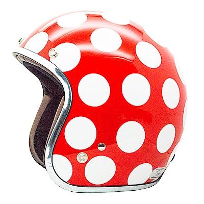 點點安全帽 (白紅)