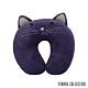 Yvonne Collection 貓咪造型兒童頸部抱枕-暗紫 product thumbnail 1