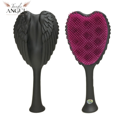 Tangle Angel 英國凱特王妃御用天使梳-霧黑22.7cm加大款(王妃梳 天使梳 美髮梳 梳子)